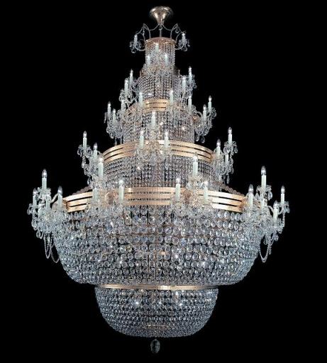 Duży, stylowy, kryształowy żyrandol do salonu lub dużej sali