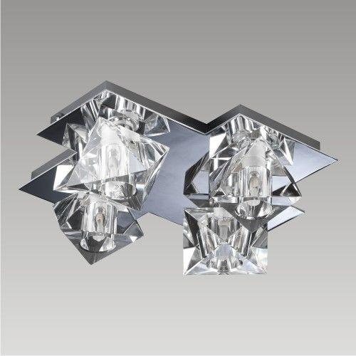 Nowoczesny kryształowy żyrandol - skromny i minimalistyczny