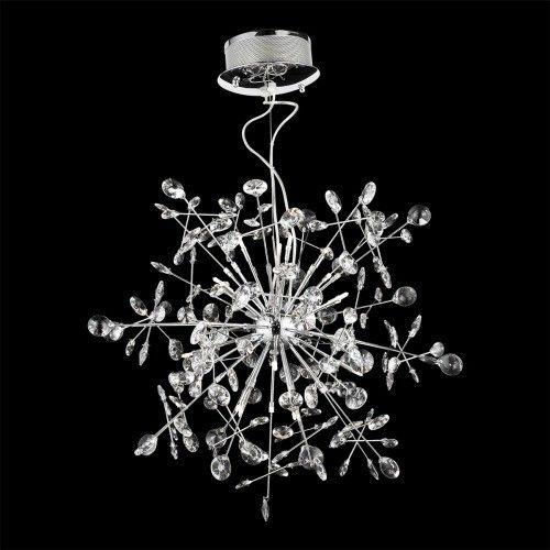 Ekskluzywny żyrandol z kryształków - kryształowy kwiat, płatek śniegu?