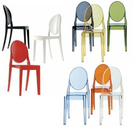 Kolorowe krzesła Victoria Ghost Chair do salonu i jadalni