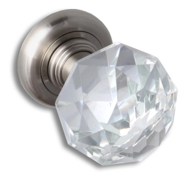 Klamki i gałki kryształowe do drzwi