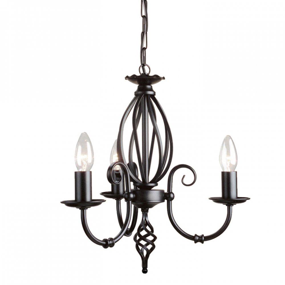 Urokliwy i stylowy mały żyrandol - czarny, metalowy, żeliwny