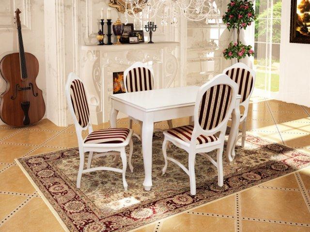 Biały stół i krzesła - zestaw producenta J&J Michalak