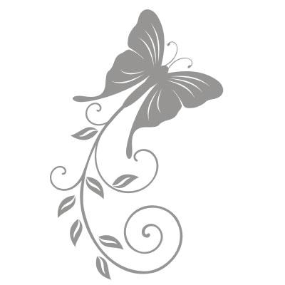 """Naklejka dekoracyjna """"Motyl"""" do przyklejenia na lustrze, szybie lub ścianie"""
