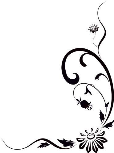 Naklejka narożna z motywem roślinnym, na lustro, szybę lub ścianę