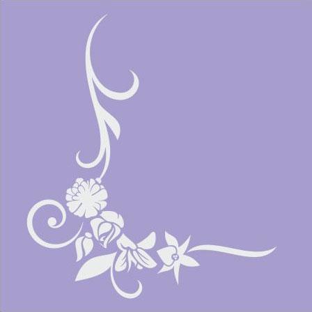 Ozdobna ramka, narożna naklejka na lustro z motywem kwiatowym