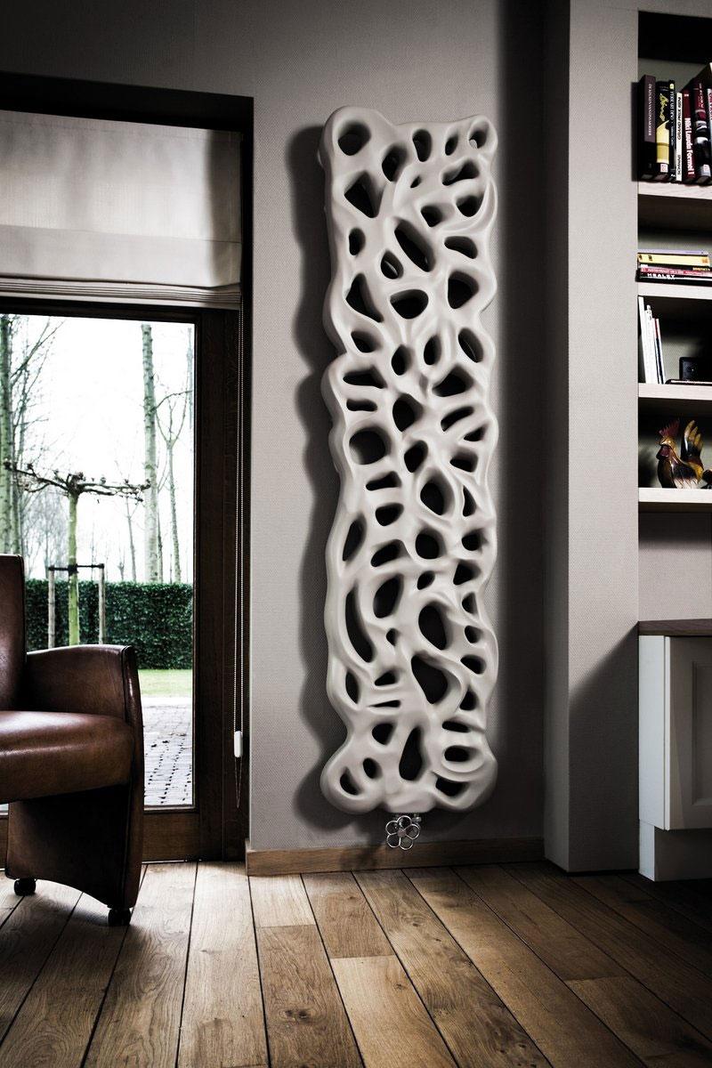 Pokojowy ozdobny grzejnik ścienny Moon do salonu, wykonany z syntetycznego kamienia, producent Jaga