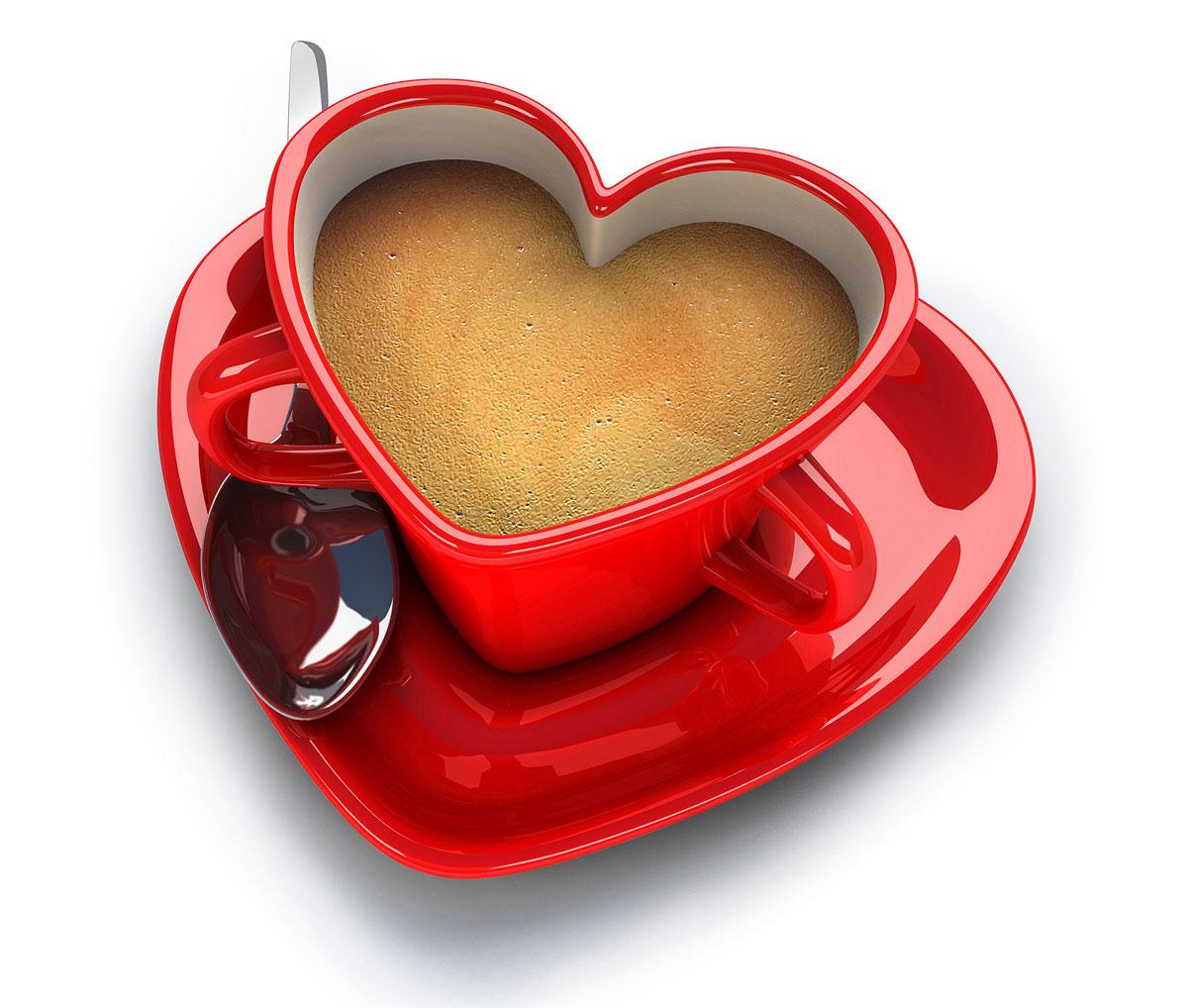Czerwone serduszko walentynkowe, nietypowa filiżanka z dwoma uszkami - idealna dla zakochanych, także jako upominek