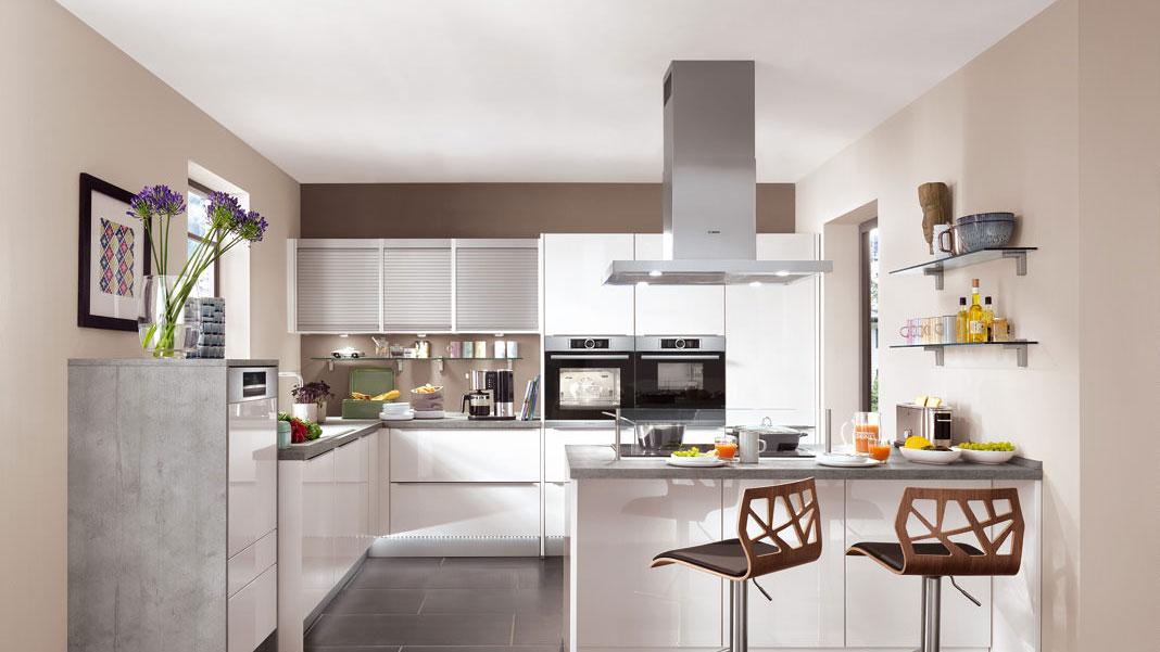 Przykład urządzenia kuchni nowoczesnymi meblami kuchennymi