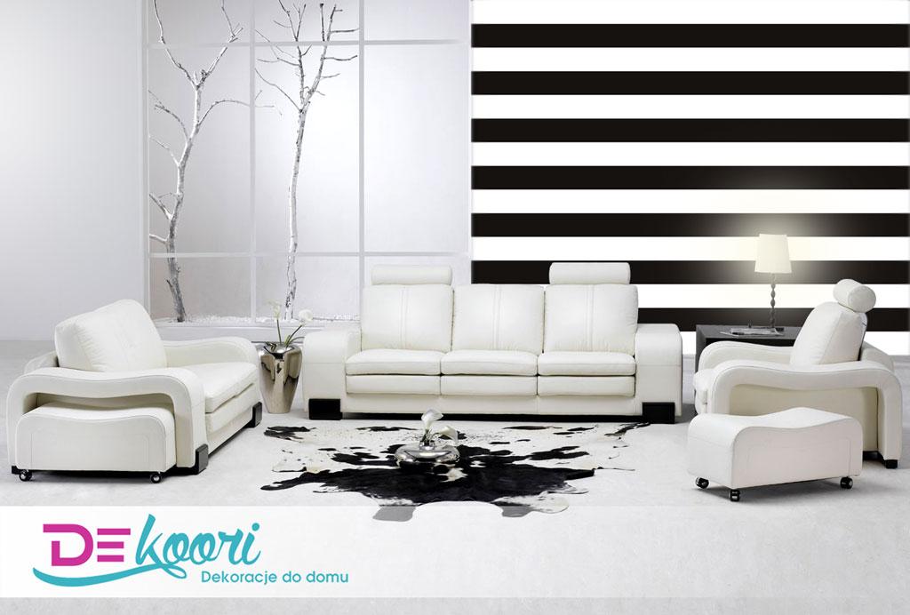 Klasyczne biało-czarne paski także do nowoczesnych pomieszczeń