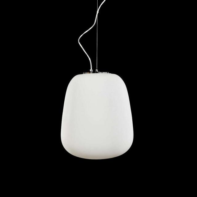 biała szklana lampa skandynawska design minimalistyczny LAZZIATE sklep DEKOORI.PL