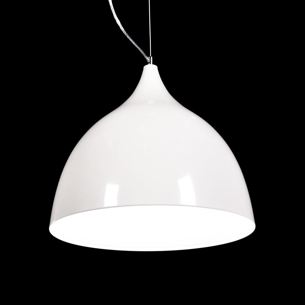 metalowa lampa w stylu skandynawskim biała sufitowa zwis VITTORIO sklep DEKOORI.PL