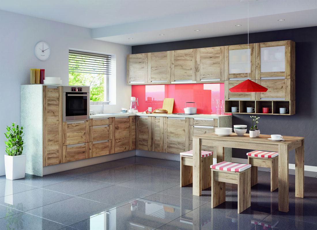 aranżacja kuchni - drewniane meble