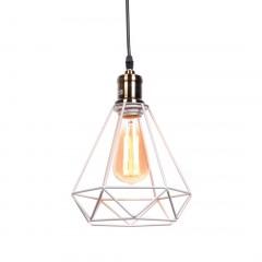 Biała lampa druciana diament COBI