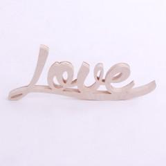 Ozdobny, drewniany napis LOVE do postawienia