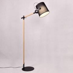 Czarna lampa podłogowa LAPIDUS