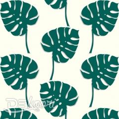 Tapeta ścienna zielone liście MONSTERA