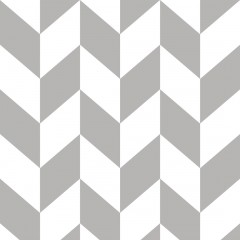 Tapeta skandynawska JODEŁKA biało-szara