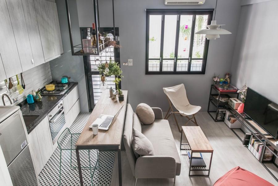 Małe mieszkanie w stylu loft