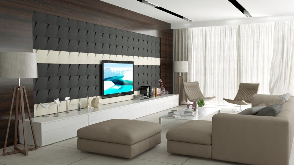 Dekoracyjne czarno białe panele ścienne 3D